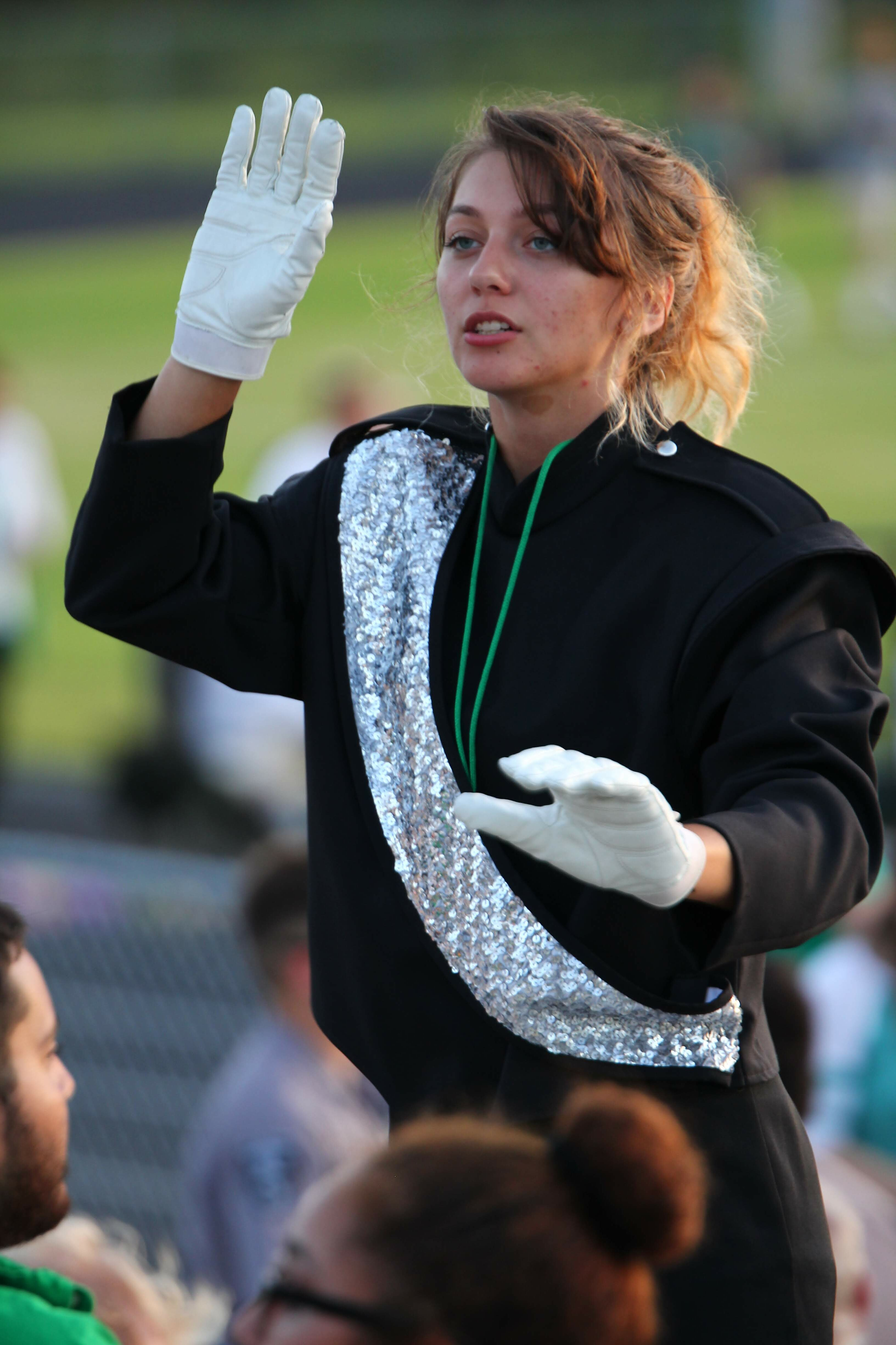 GreenWave Band-Foothball Game-South-00058