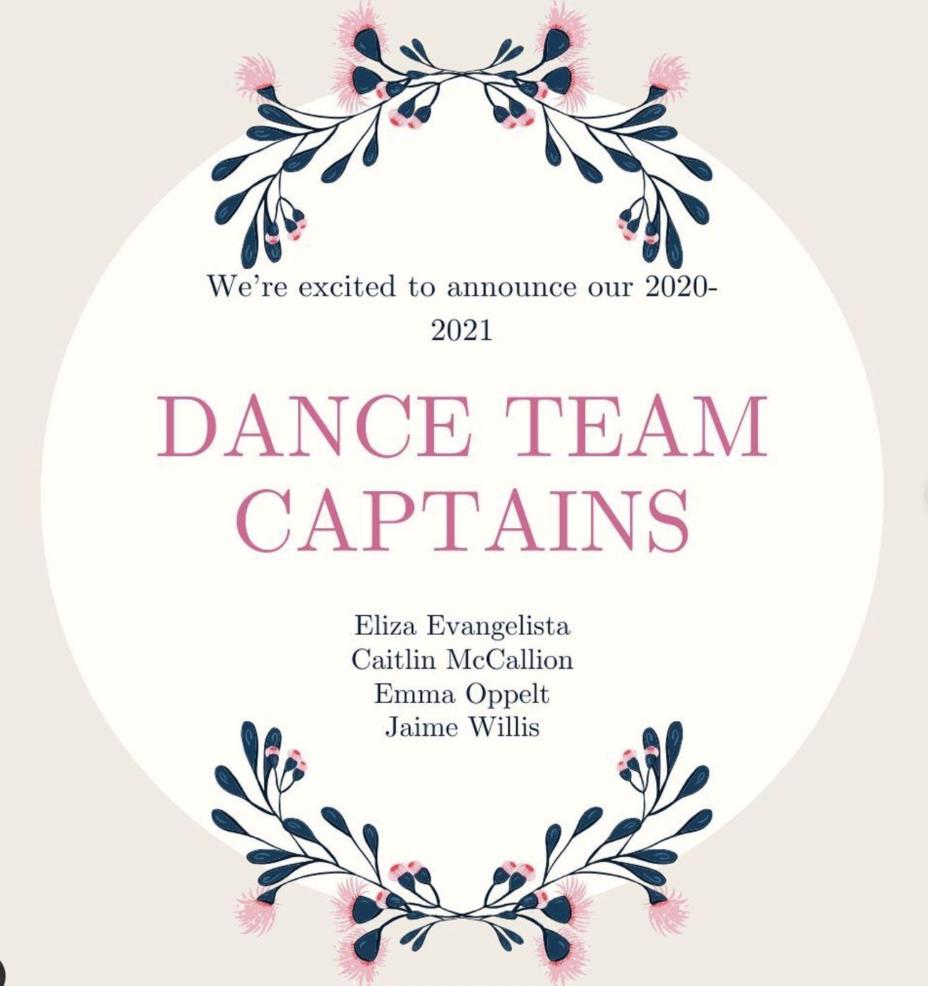dance captains