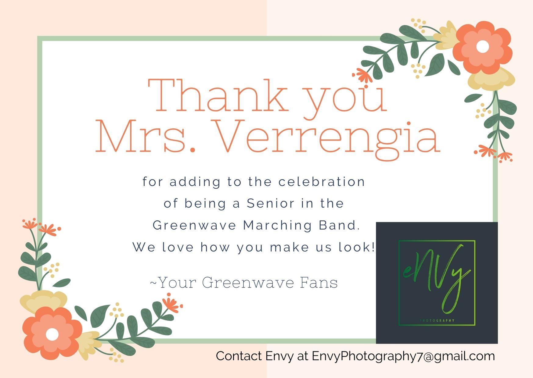 Verrengia thank you