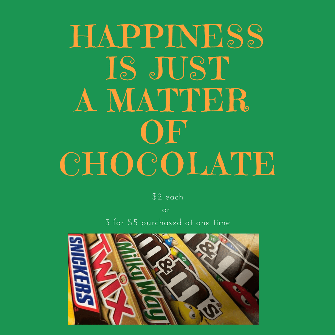 happiness is just a matter of chocolate